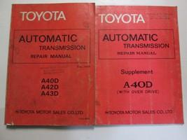 1978 Toyota AutomaticTransmission A40D A42D A43D Service Repair Manual S... - $37.57