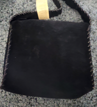 Western Hair On Cowhide Ladies Purse NEW Suede Back Whipstitch Pink Smudge image 3