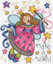 """Design Works Counted Cross Stitch Kit 8""""X10""""-Make A Wish (14 Count) - $17.75"""