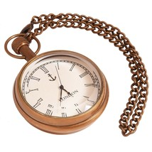 diollo Vintage Pocket Watch Brass Pocket Watch for Gift Type-4 - $16.14