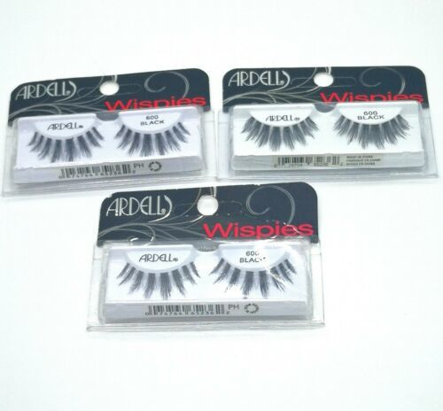Primary image for LOT OF 3 pair ARDELL Wispies Black Eyelashes