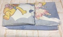 Vtg Muppet Babies Twin Sheet Set Fabric Material Flat Fitted Pillowcase ... - $74.24