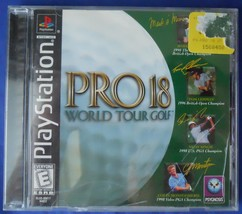 1998 Pro 18 World Tour Golf Playstation 1 PS1 Video Game - $12.99
