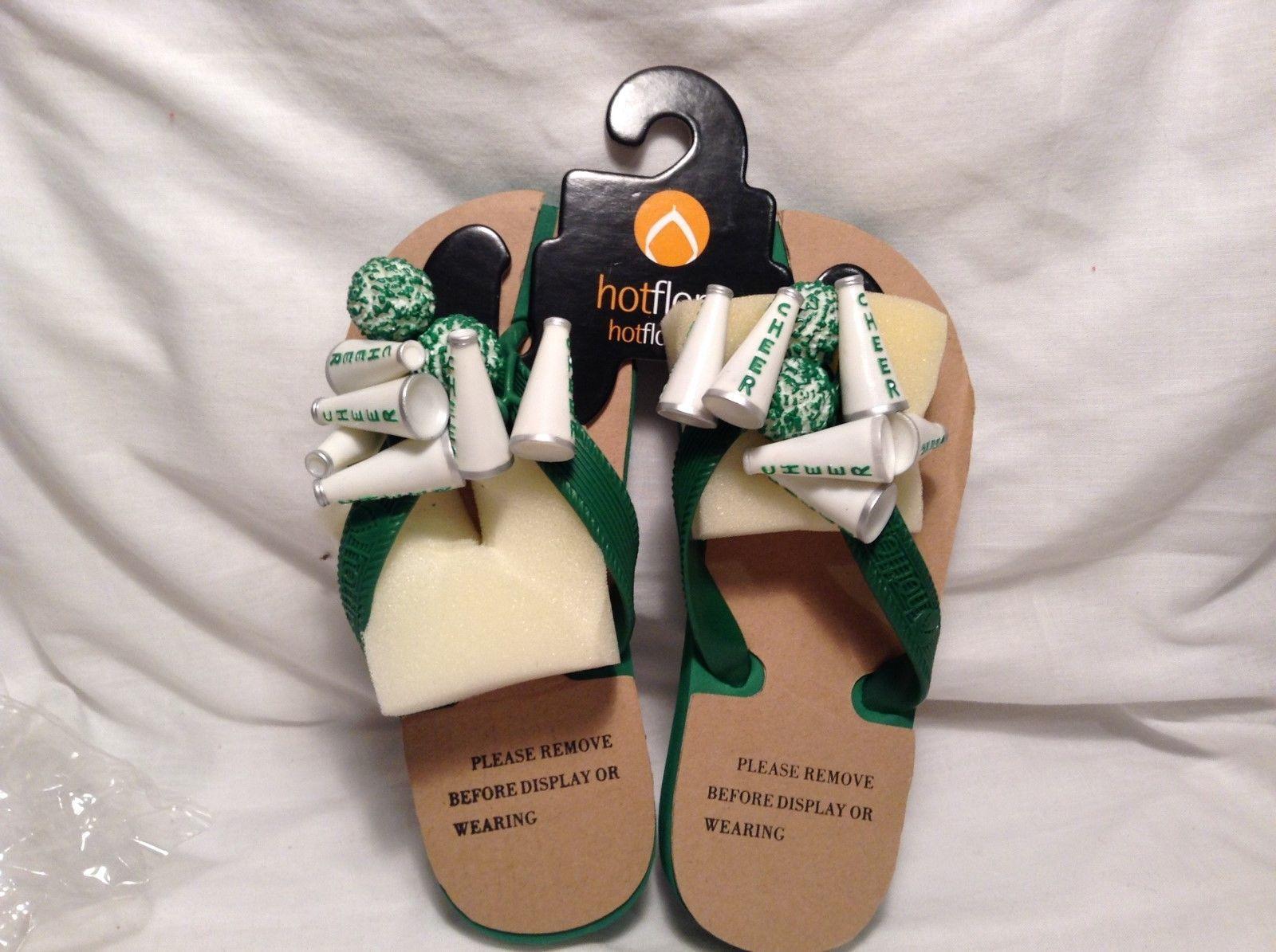 NEW Hot Flops Green Cheerleader Children's Flip Flops