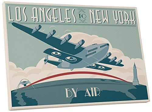 "Pingo World 0208QBKXZ4G ""Steve Thomas L.A. to New York By Air"" Gallery Wrapped C - $48.46"
