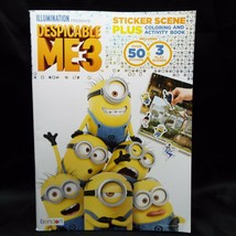Despicable Me 3 Sticker Scene plus Coloring and Activity Book with 50 St... - $5.99