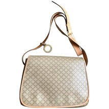 Vintage Celine beige macadam blaison pattern messenger bag with gold ton... - $258.00