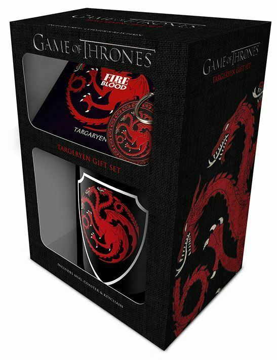 Primary image for Game of Thrones Targaryen Mug, Coaster and Keychain Set