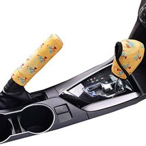 PANDA SUPERSTORE Shift Knob Cover Cartoon Car Handbrake Sleeve Gears Sets Automa