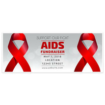 Red Ribbon AIDS Fundraising Banner - $28.22+