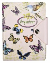 A5 Executive Diary Personal Organiser Ruled Notebook Padded PU Leather C... - $17.26