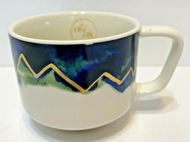 Starbucks Coffee Cup Artisan Series 06/08 Elevation Mug 2015 12 oz Blue ... - $14.58