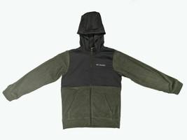 Columbia Boys Full Zip Fleece Hoodie Jacket, Cypress Heather - Shark, SML - $14.25