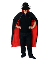 Halloween Costume Black Red Reversible Dress Vampire Cloak Set - $18.60