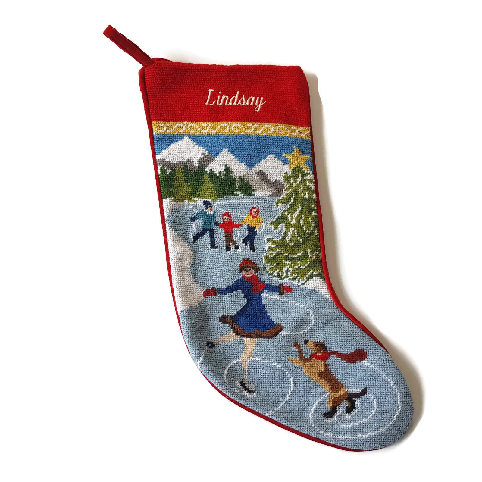 Lands End Christmas Stockings.Lands End Needlepoint Christmas Stocking And 50 Similar Items