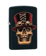 Zippo Lighter Steampunk Skull with Top Hat Black Matte - 80451 - £20.69 GBP