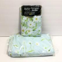 Vintage Morgan Jones Percale Floral Daisy Full Double Flat Sheet & 2 Pil... - $39.95