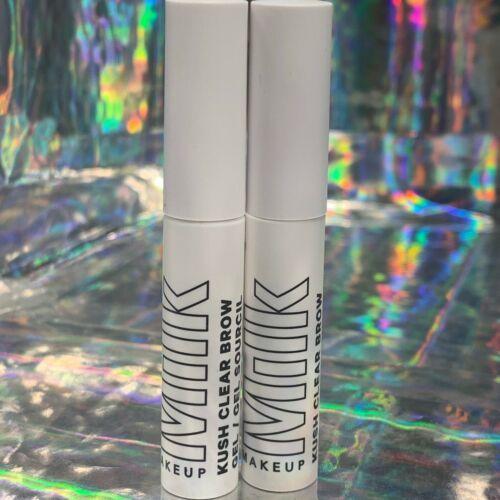 """2x Milk Makeup Kush Fiber Brow Gel Clear """"Hydro"""" 2.7mL New MINI"""