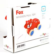 Applesauce Fox Baby Wooden Pull Toy for Toddlers Children Ages 12+ Month image 3