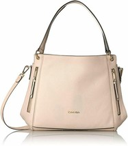 Calvin Klein Melanie Pebble Leather Slouchy Zip Face Hobo - $129.00