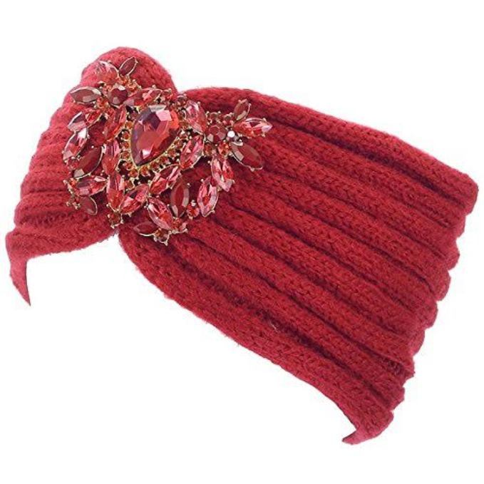 Crystal Jeweled Knit Headband / Turban / Ear Warmer - In 5 Gorgeous Colors! image 3