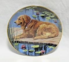 "Danbury Mint Golden Retriever Dog Dockside Retriever Collector Plate - 8"" - $17.99"