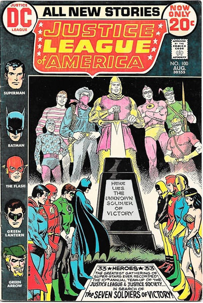Primary image for Justice League of America Comic Book #100, DC Comics 1972 FINE+