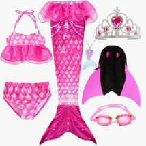 7PCS/Set Kids Swimming Mermaid Tail With Monofin Kid Bikini Swimwear - $32.99+