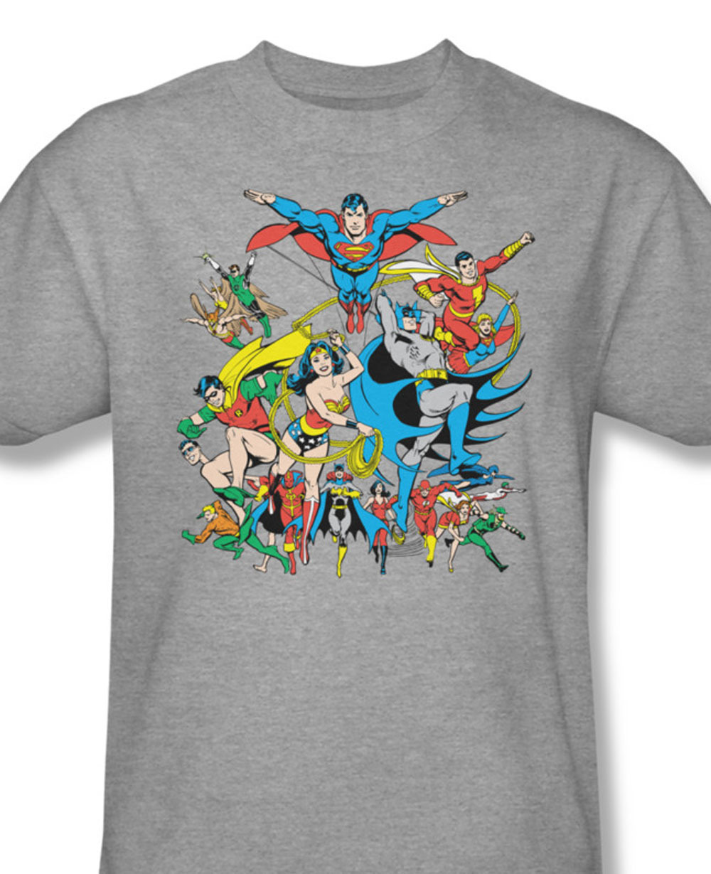 Iends legends tee batman superman green lantern wonder woman for sale online gray graphic tshirt