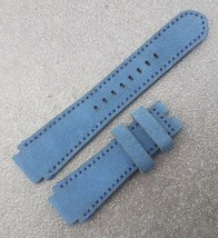 18-24-20 mm Genuine Cowhide Leather Vintage Watch Straps Band - Blue #1000 - $21.78