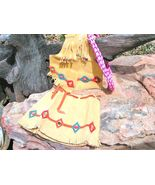 Girls Small size Suede Leather Western Skirt and Vest with lasso rope 2-... - $69.98