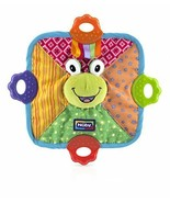 Nuby Green Frog Teething Blankie Squeak Crinkle Comfort Teether Blanket ... - $21.66