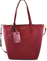 AUTHENTIC NEW NWT MICHAEL KORS $248 PENNY RED MAROON MEDIUM CONVERTIBLE ... - $128.00