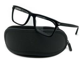EMPORIO ARMANI Eyeglasses Frame EA3071 5042 55-18-140 Black Matte Horn  - $67.87