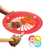 10.6inch Disposable Plastic Plate Holder Picnic BBQ  Barbecue Party Outd... - $7.40
