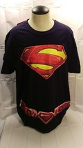 DC Comics Navy Blue Superman T Shirt With Detachable Red CAPE - $9.99