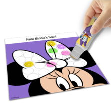 NEW Disney Junior Minnie Mouse Dot to Dot Sticker Paint Art Activity Kit Ages 3+ image 3