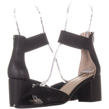 White Mountain Evie Criss Crossed Ankle Strap Sandals 914, Black, 7 US - $31.67