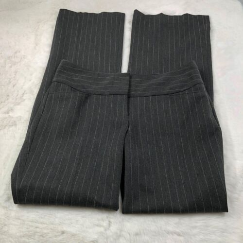 Express Women's 'Editor' Dress Pants Gray Pinstripe Work Career Size 2R