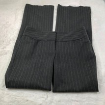 Express Women's 'Editor' Dress Pants Gray Pinstripe Work Career Size 2R - $22.52