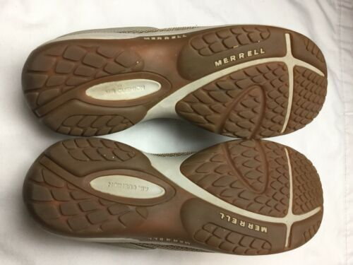 MERRELL Encore Breeze 2 Tan Womens Sz 10 Air Cushion Mesh Slip On Clogs Mules