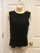 NWOT BLACK SLEEVELESS  SWEATER TOP  MADE IN USA  SIZE  MEDIUM 8-10 - $12.86