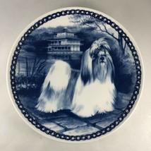 SHIH TZU DOG Lekven Danish Blue Porcelain Plate Hundeplate by Natalia Br... - $65.45