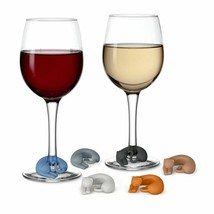 Wine Glass Charms Silicone Markers Party Wine Glasses Label Gifts Animal... - $7.98