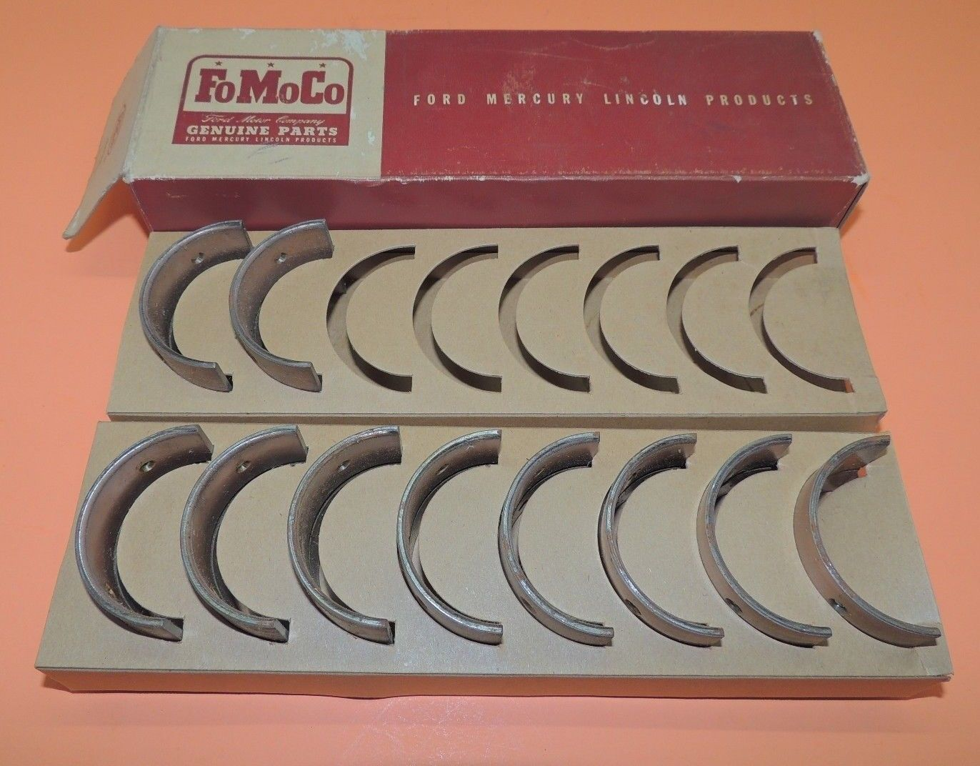 Primary image for Vintage FoMoCo Genuine 1946-48 Ford Rod Bearings 12pc  ?-6211A USA