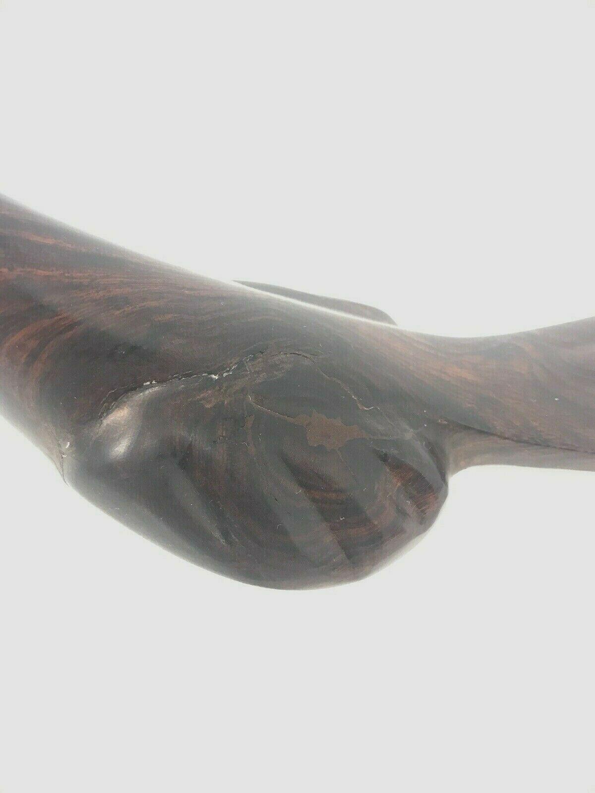 "Vintage Ironwood Roadrunner Bird Statue Hand Carved Figure Wooden Sculpture 9.5"""