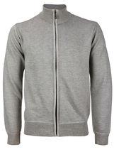 E-38 Italy Men's Slim Fit Luxury Wool Zip Up Pullover Hoodie Cardigan Sweater image 5
