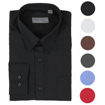 Alberto Cardinali Men's Tailored Fit Long Sleeve Wrinkle Resistant Dress Shirt image 1
