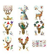 Christmas Holiday Half Arm Waterproof Temporary Tattoo Stickers Sheets C... - $16.07