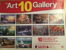 Sure-Lox Jigsaw Puzzles Art 10 Gallery Deluxe   9 Puzzles Nature 4850 Pc - $17.06